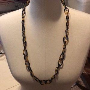 J crew brown plastic chain necklace